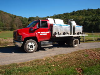 Fish Stocking Truck in Pennsylvania. Trout raised in the Poconos.